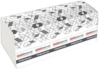 Полотенца бумажные двухслойные PROSERVICE Premium , V-сложение, 160 шт., белые