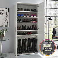 Шкаф с полками и штангой для одежды и обуви