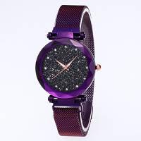Женские часы Baosaili Starry Sky Black на магнитном ремешке