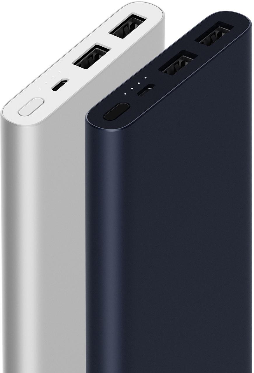 Оригинальная УМБ Xiaomi Mi Power Bank 2s 10000 mAh 2xUSB QC2.0 PLM09ZM Silver (VXN4231GL)