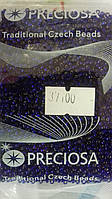 Чешский бисер Preciosa Ornela № 37100  (блестящий, фиолетовый)