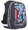 """Рюкзак шкільний каркасний 1 Вересня H-12 """"Steel Force"""" черный (555950)"""