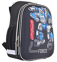 """Рюкзак шкільний каркасний 1 Вересня H-12 """"Steel Force"""" черный (555950), фото 1"""