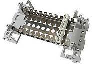 Настенная монтажный хомут для 11 плинтов типа LSA-Plus/Profil ADC-KRONE, с пластиковыми адаптерами