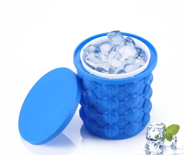 Форма для заморозки льда двухкамерная с крышкой и охлаждение бутылок Ice Cube Maker