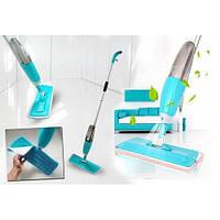 Швабра с распылителем Healthy Spray Mop синяя (двойная щетка)