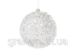 Набор елочных шаров 10 см цвет - белый, 12 шт