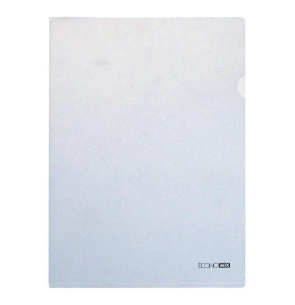 Папка куточок А4 180 мкм глянець біла E31153-14