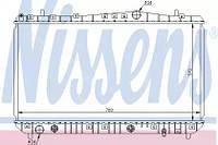Радиатор охлаждения DAEWOO LACETTI, NUBIRA AT 1.6-1.8, Nissens 61634