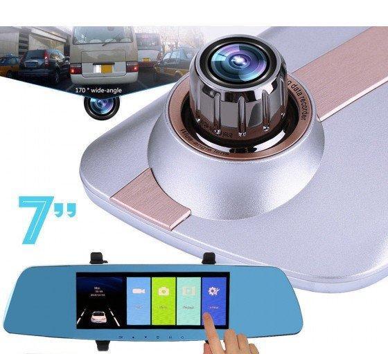 Видеорегистратор - зеркало с двумя камерами сенсорный, 7 дюймов, L1003