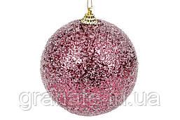 Набор ёлочных шаров, цвет: бордо 8 см (12 шт)