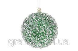 Набор ёлочных шаров, цвет: зелёный 10см (12шт)