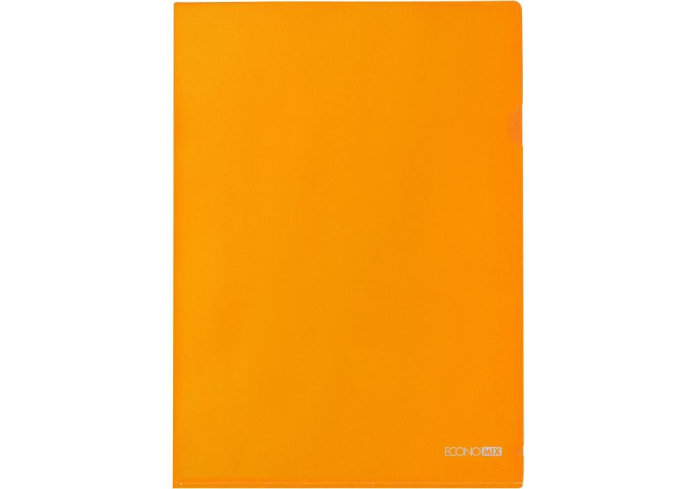 Папка куточок А4 180 мкм глянець помаранчева E31153-06