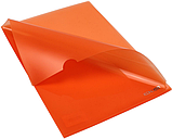 Папка куточок А4 180 мкм глянець помаранчева E31153-06, фото 2