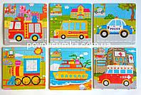 """Деревянные пазлы """"Машинки"""", цена за 1 шт. (15х15см, в рамке), фото 1"""