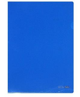 Папка куточок А4 синя E31153-02