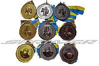 Медаль с видами спорта (бокс, футбол, волейбол)