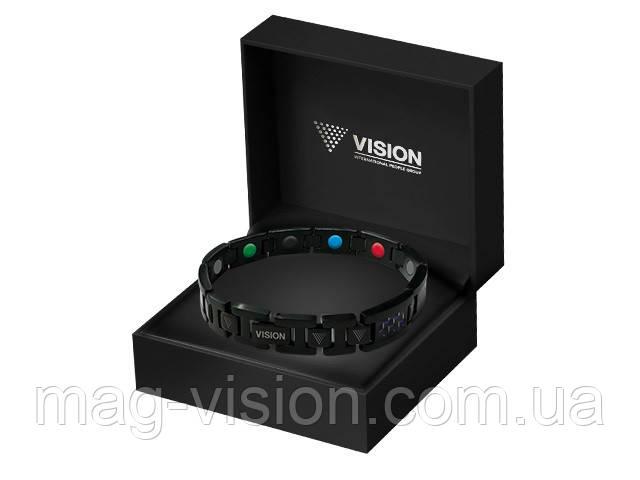 Браслет VISION PentActiv Neo мужской титановый с углеродными вставками