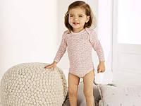 Боди с длинным рукавом розовые мишки  Lupilu 74\80 для девочки, фото 1