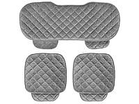 Комплект чехлов для сидений автомобиля с сохранением тепла 133 см х 49 см, 52 см х 49 см Серый