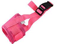 Нейлоновый намордник для собак Faroot Размер XL Розовый