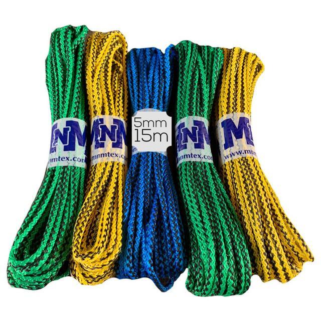 Верёвки для белья MNM плетёные 5mm/15m цветные