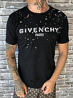 Брендовая Мужская Футболка Givenchy черная Премиум Качество 100% Хлопок Молодежная Живанши реплика, фото 1