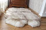 Килим з 4-х овечих шкур попелястий, фото 2