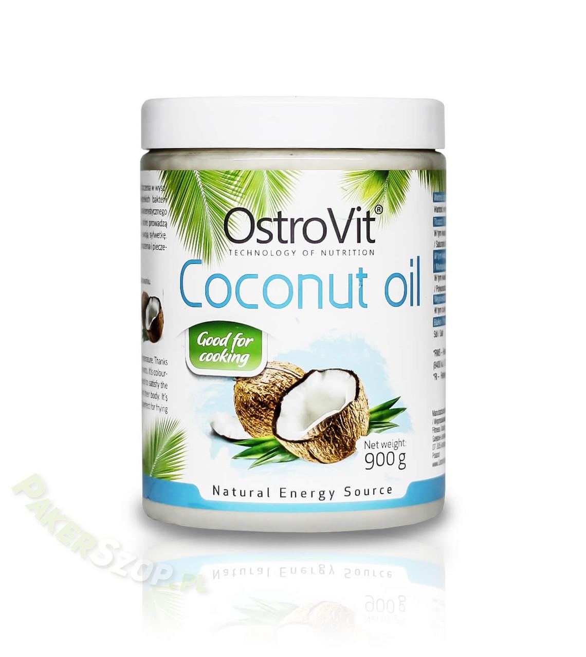 Кокосовое масло Ostrovit Coconut Oil 900 грам