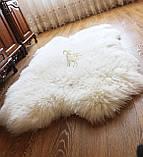 Килим з 4-х овечих шкур, білий, фото 2