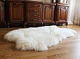 Килим з 4-х овечих шкур, білий, фото 4
