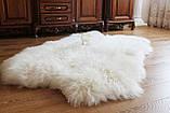 Килим з 4-х овечих шкур, білий, фото 3