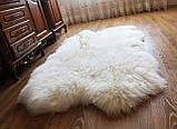 Килим з 4-х овечих шкур, білий, фото 5