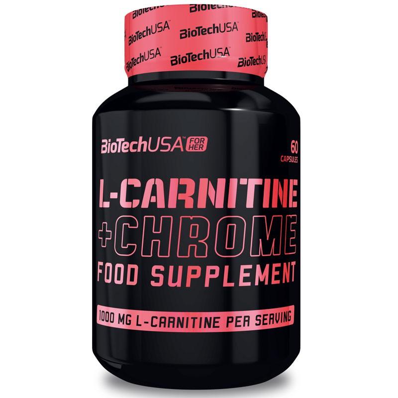Л-карнитин BioTech USA L-Carnitine Chrome 60 капсул