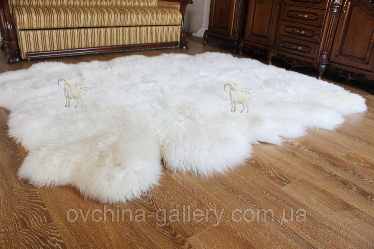 Килим з 12-ти білих овечих шкур, 2.0*3.2