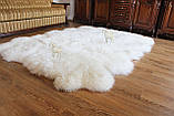Килим з 12-ти білих овечих шкур, 2.0*3.2, фото 6