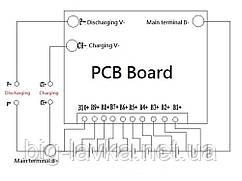 BMS контроллер 10s 36В 40A Плата защиты