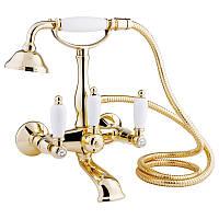 Смеситель для ванны Bianchi First VSCFRS1023#02600ORO с душевым комплектом