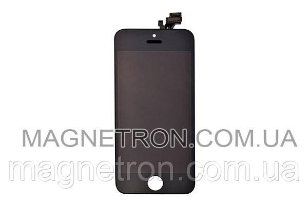 Дисплей + тачскрин + рамка для телефонов Apple iPhone 5 (черный), фото 2