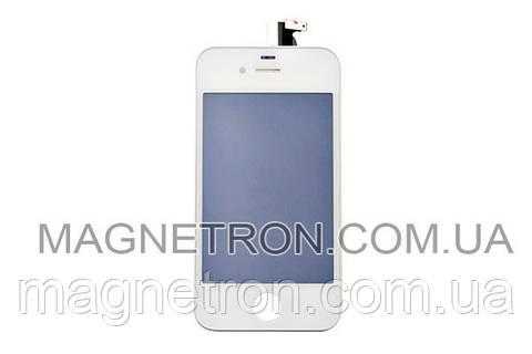 Дисплей c тачскрином + рамка для мобильных телефонов Apple iPhone 4 (белый)
