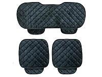 Комплект чохлів для сидінь автомобіля зі збереженням тепла 133 см х 49 см, 52 см х 49 см Чорний
