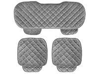 Комплект чохлів для сидінь автомобіля зі збереженням тепла 133 см х 49 см, 52 см х 49 см Сірий