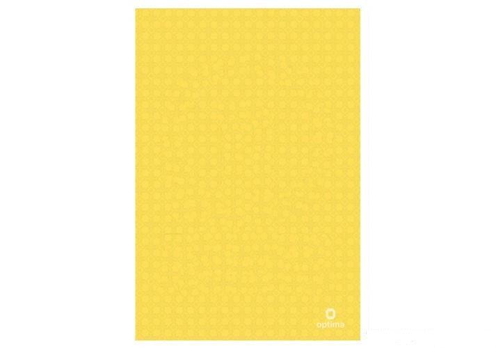 "Папка-куточок А4 Optima, 130 мкм, фактура ""Вишиванка"", жовта O35120-05"