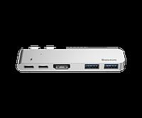 USB хаб Baseus USB C+ Dual Type-C to USB3.0/HDMI/C HUB Converter Deep Space Grey (CAHUB-B0G)