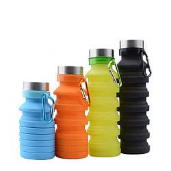 Складная силиконовая бутылка LUX Bottle 550 мл легкая и компактная для путешествий
