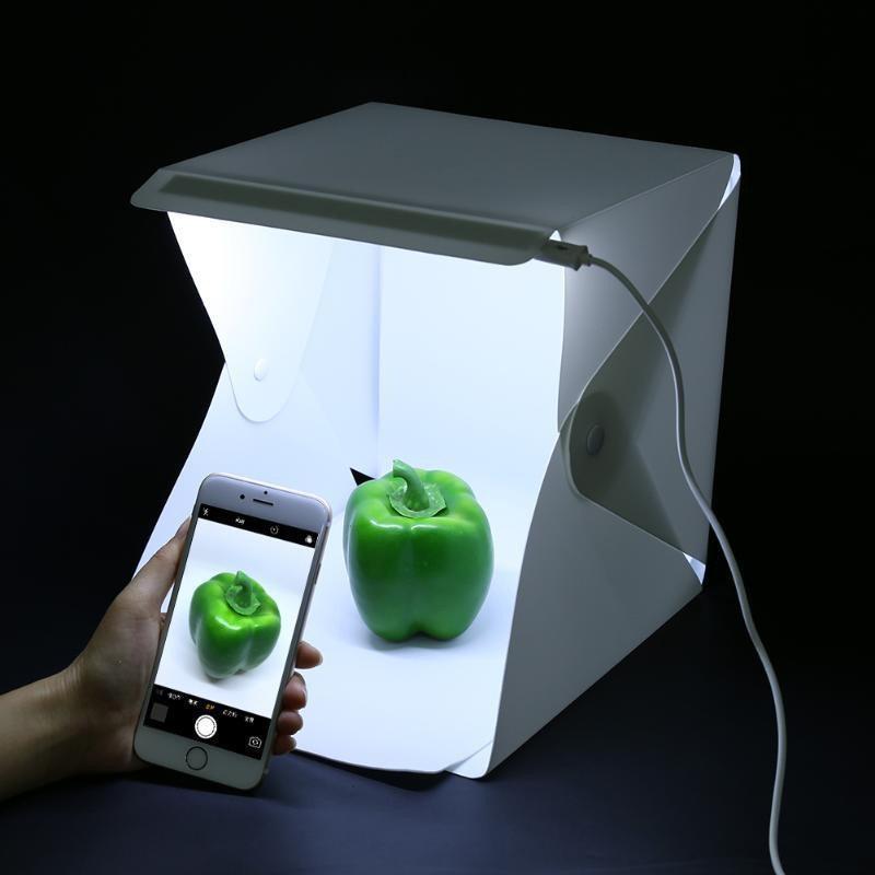 Световой лайткуб (фотобокс) UKC с LED подсветкой для предметной макросъемки 40*40*40см