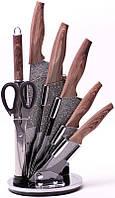 Набор кухонных ножей Kamille Oryen-49 7 предметов на веерной подставке, фото 1
