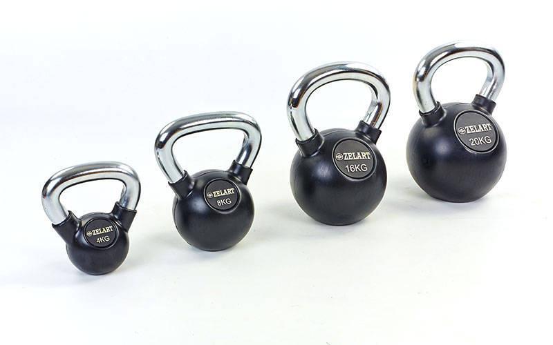 Гири обрезиненные ZS 2-36 кг для кроссфита