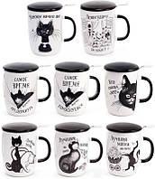 """Кружка-заварник """"Черный Кот"""" 450мл с металлическим фильтром"""