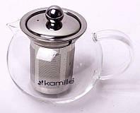 Чайник заварочный Kamille Ilasade 550мл стеклянный со съемным ситечком